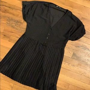 B/W Polka Dot Dress by Zara, XS